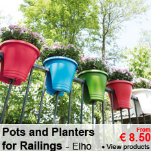 Pots and planters for railings - Elho - From 8.50 €