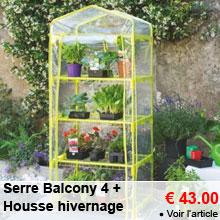 Serre Balcony 4 Vert Anis + Housse hivernage - 43.00 €