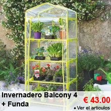 Invernadero Balcony 4 Verde Anís + Funda - 43.00 €