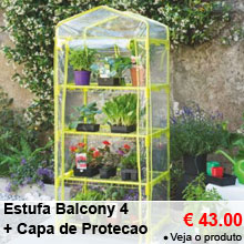 Estufa Balcony 4 Verde Anis + Capa de Protecao - 43.00 €