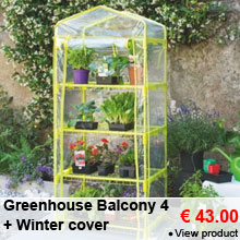 Greenhouse Balcony 4 + Winter cover - 43.00 €
