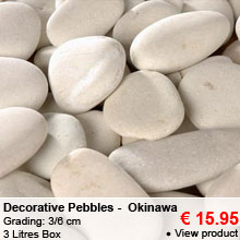 Decorative Pebbles - 3L - White - Okinawa - 3/6 cm - 15.95 €