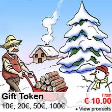 Gift Token : 10, 20, 50, 100 €