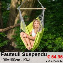 Fauteuil Suspendu 130x100cm - Panama Kiwi - 54.95 €