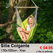 Silla Colgante 130x100cm - Panama Kiwi - 54.95 €