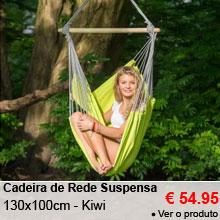 Cadeira de Rede Suspensa 130x100cm - Panama Kiwi - 54.95 €
