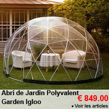 Abri de Jardin Polyvalent - 10m² - Garden Igloo - 849.00 €
