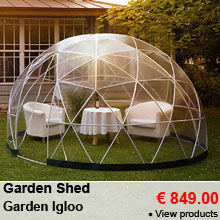 Multipurpose garden shed - 10m² - Garden Igloo - 849.00 €
