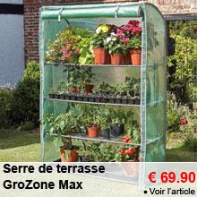 Serre de terrasse GroZone Max - 69.90 €