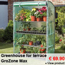 Greenhouse for terrace GroZone Max - 69.90 €