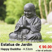 Estatua de Jard�n Happy Buda - Altura 53 cm - 90.00 €