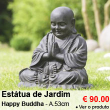 Est�tua de Jardim Happy Bouddha - Altura 53 cm - 90.00 €