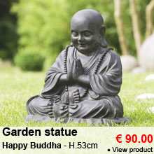 Garden statue Happy Buddha - Height 53 cm - 90.00 €