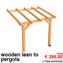 Wooden Pergolas - From 395.00 €