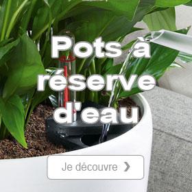 Jardinières et pots à réserve d'eau