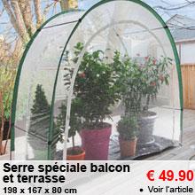 Serre sp�ciale balcon et terrasse - 49.90 €