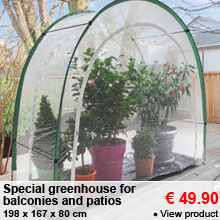 Special greenhouse for balconies and patios - 49.90 €