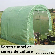 Serres tunnel et serres de culture