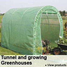 Tunnel and growing Greenhouses