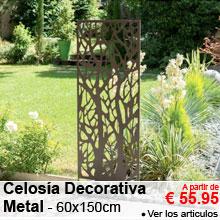 Celosía Decorativa en Metal - 60x150cm - a partir de 55.95 €