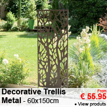 Decorative Trellis in Metal - 60x150cm - from 55.95 €