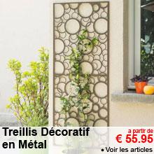 Treillis Décoratif en Métal - 60x150cm - a partir de 55.95 €