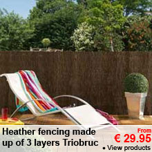 Heather fencing made up of 3 layers - From 29.95 €