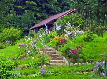 Le ruissellement et la pente for Gartengestaltung zeichnung