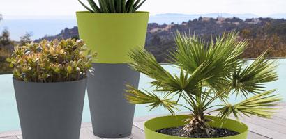 Pots bicolores - Grosfillex