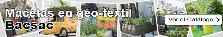 Jardineras y macetas en geo-textil - Bacsac