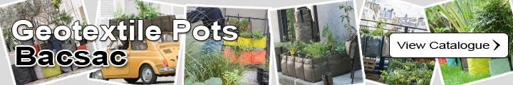 Geotextile Pots and Planters - Bacsac