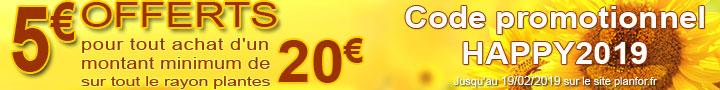 Promo 5€ offert - code:HAPPY2019 - jusqu'au 19/02/2019