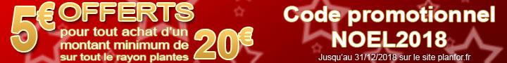 Promo 5€ offert - code:NOEL2018 - jusqu'au 31/12/2018