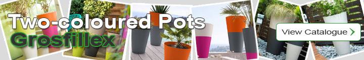 Two-coloured Pots - Tokyo Range - Grosfillex