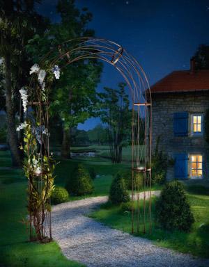 Arche jardin solaire l 150 cm celte vente arche - Arche metallique jardin ...