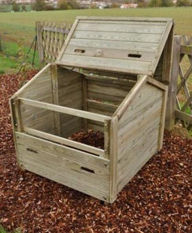 bac compost en bois 400 litres jardipolys pictures to pin on pinterest. Black Bedroom Furniture Sets. Home Design Ideas