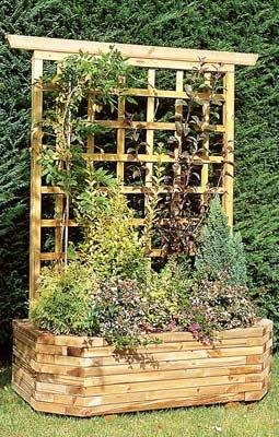 Jardini re bois murale 130 treillis vente jardini re bois murale 130 - Leroy merlin jardiniere bois ...