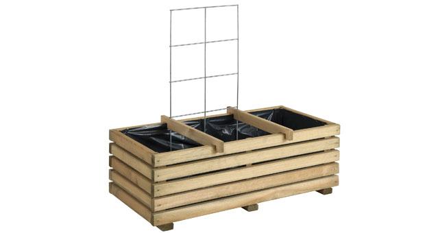 jardini re bois pour enfants avec treillis burger vente jardini re bois pour enfants avec. Black Bedroom Furniture Sets. Home Design Ideas