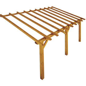 pergola bois adoss e pergola bois ados e sur enperdresonlapin. Black Bedroom Furniture Sets. Home Design Ideas