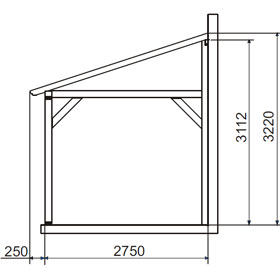 lean to wood pergola 5 x 3 m sherwood buy lean to wood pergola 5 x 3 m sherwood. Black Bedroom Furniture Sets. Home Design Ideas