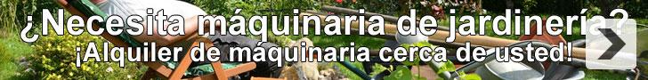 Alquiler de máquinaria de jardinería