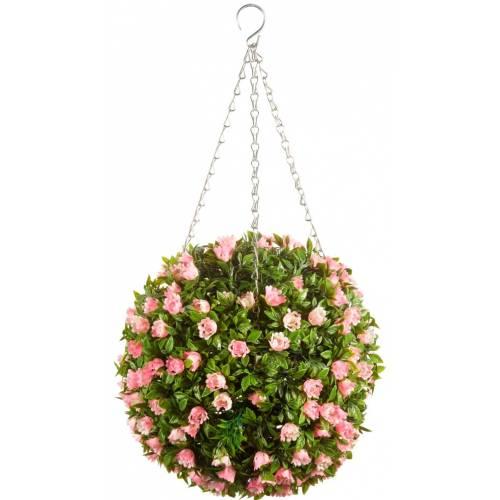 Suspension plante artificielle boule topiaire vente for Plante boule artificielle