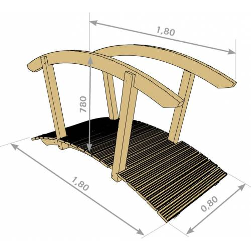 Pont bois style japonais vente pont bois style japonais for Style japonnais