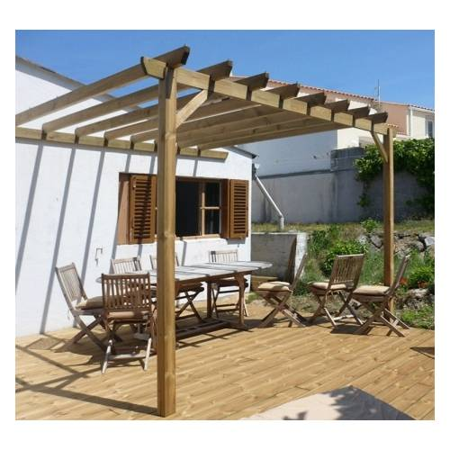 pergola bois adoss e simple 3 x 3 m vente pergola bois adoss e simple 3 x 3 m. Black Bedroom Furniture Sets. Home Design Ideas