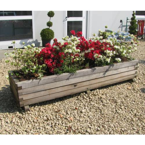 Jardini re bois rectangulaire 233 vente jardini re bois - Maceteros rectangulares grandes ...