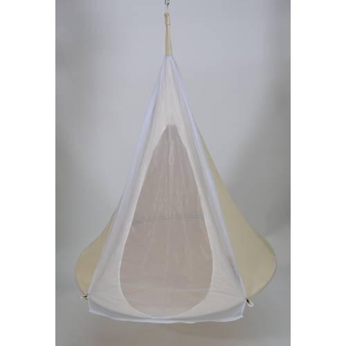 hamac suspendu cacoon simple blanc vente hamac. Black Bedroom Furniture Sets. Home Design Ideas