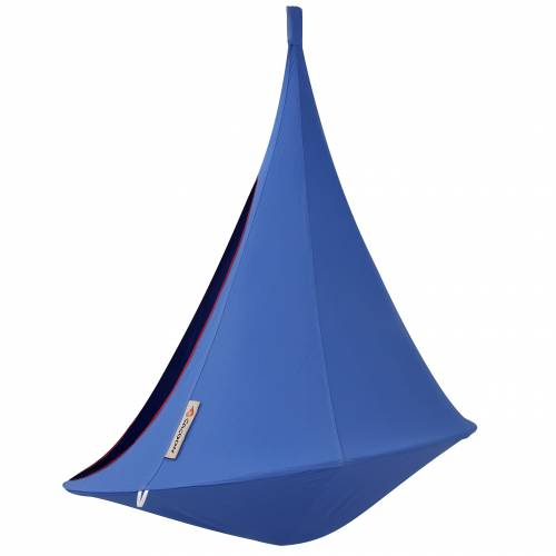hamac suspendu cacoon simple bleu vente hamac. Black Bedroom Furniture Sets. Home Design Ideas