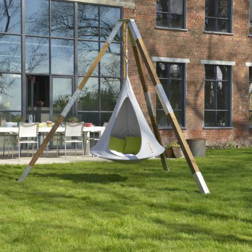 hamac suspendu cacoon enfant gris vente hamac. Black Bedroom Furniture Sets. Home Design Ideas