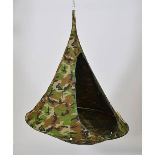 hamac suspendu cacoon simple camouflage vente hamac. Black Bedroom Furniture Sets. Home Design Ideas