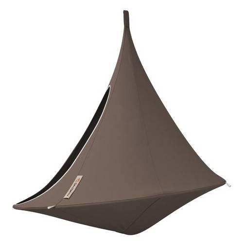 hamac suspendu cacoon double taupe vente hamac. Black Bedroom Furniture Sets. Home Design Ideas